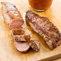 Pan-Roasted Pork Tenderloin with Tomatoes and Capers