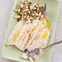 Roasted Trout with White Bean Salad