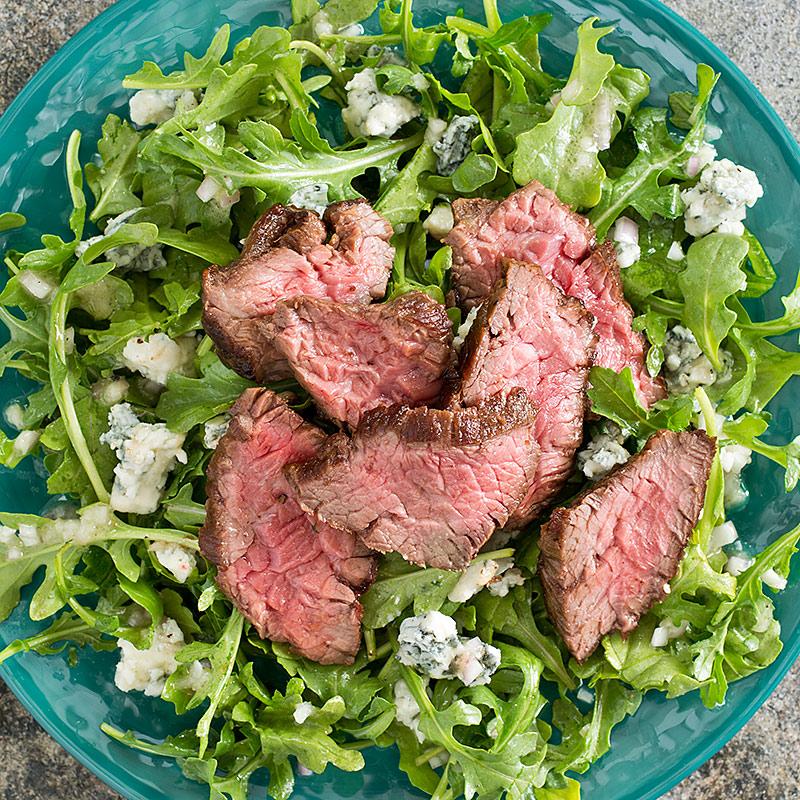steak salad arugula