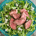 Arugula Salad with Steak Tips and Gorgonzola