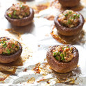 Stuffed Mushrooms with Bacon and Blue Cheese