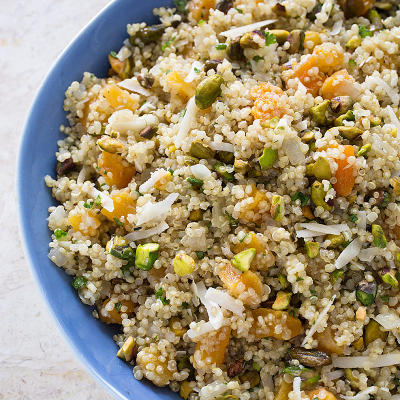 Quinoa Pilaf with Apricots, Aged Gouda, and Pistachios Recipe - Cook's ...