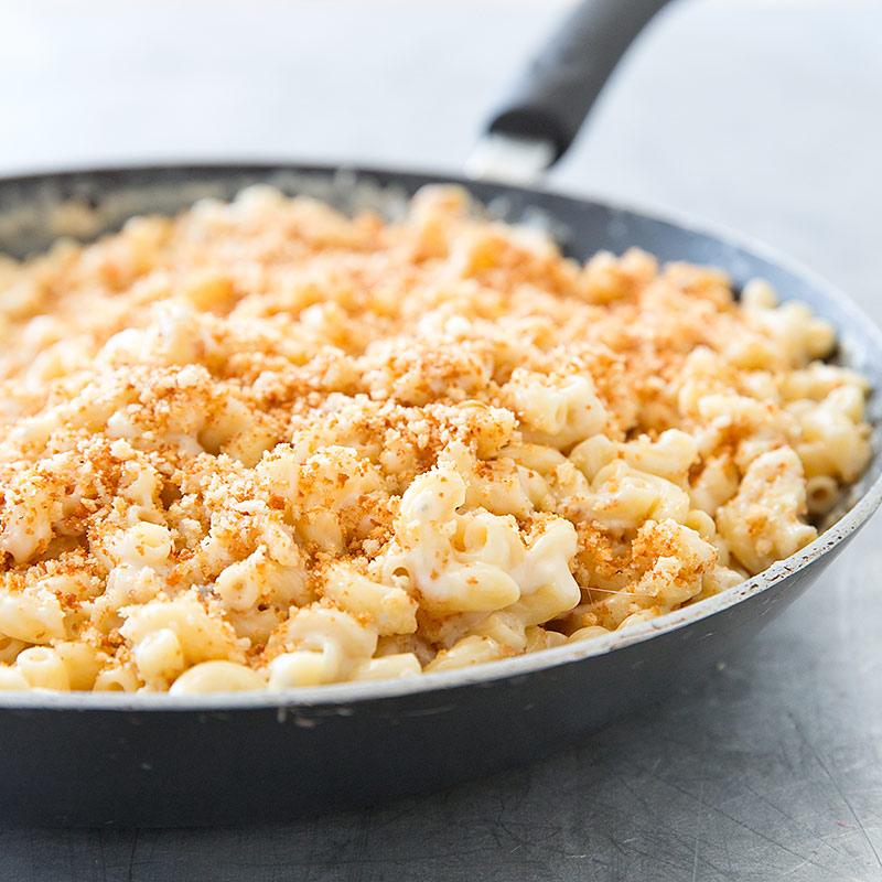 Three-Cheese Skillet Macaroni