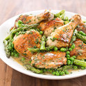 Skillet Chicken with Spring Vegetables