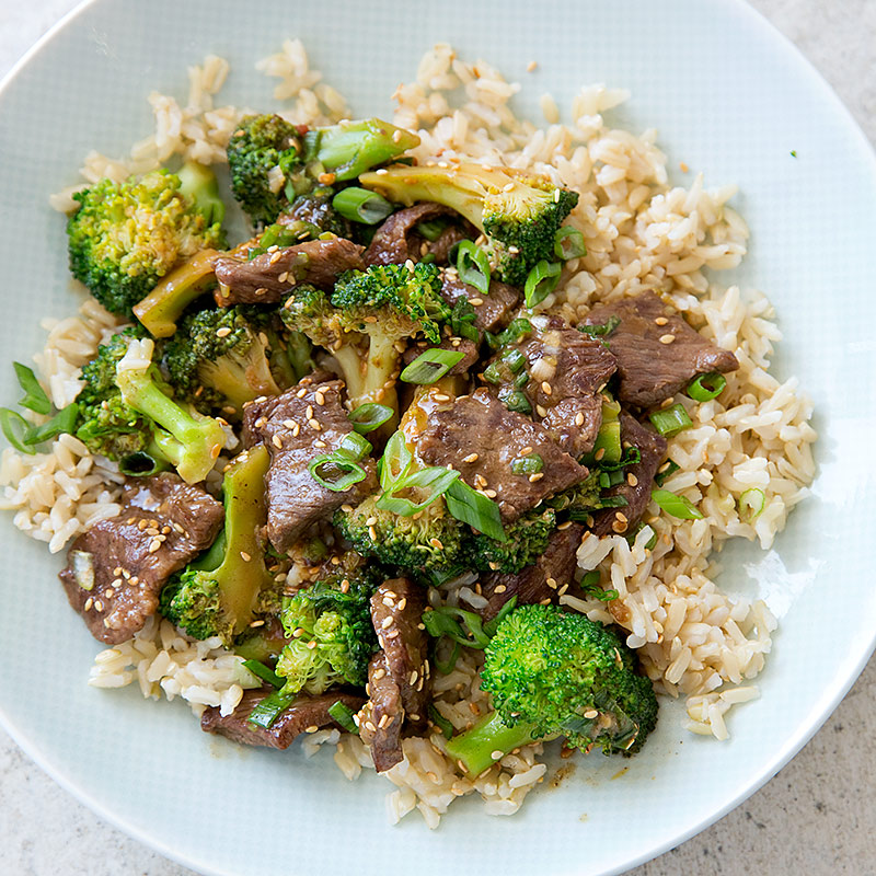 Broccoli Stir Fry With Ginger And Sesame Recipe — Dishmaps