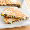 Black Bean, Corn, and Poblano Quesadillas