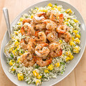 Grilled Shrimp with Coconut Rice Salad