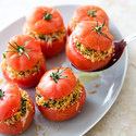 Stuffed Tomatoes with Currants and Pistachios