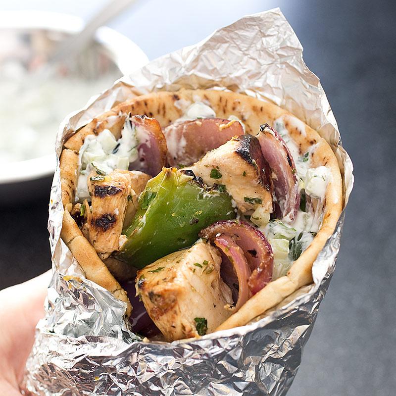 recipe: chicken souvlaki sandwich [30]