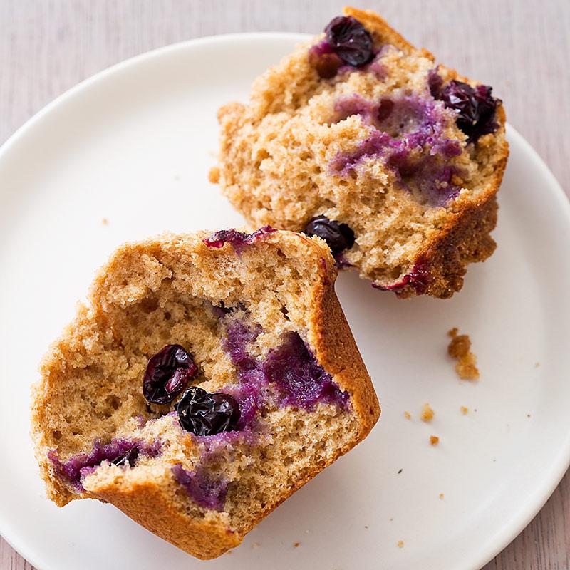 Whole-Wheat Blueberry Muffins