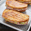 Ham, Brie, and Apple Panini