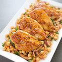 Pan-Seared Chicken Breasts with Chickpea Salad