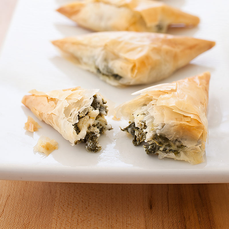 Phyllo+Triangle+Recipes Phyllo Triangles with Spinach and Feta Recipe ...