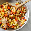 Cider-Glazed Root Vegetables with Apple and Tarragon