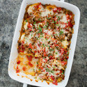 Sausage and Red Pepper Polenta Lasagna
