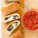 Broccoli Rabe and Salami Stromboli