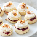 Raspberry-Filled Almond Torte Cookies