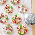 Almond-Spice Christmas Wreath Cookies