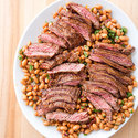 Skirt Steak with Pinto Bean Salad