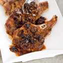 Fennel-Crusted Pork Chops with Prune Compote