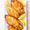 Crisp Breaded Chicken Cutlets with Garlic and Oregano