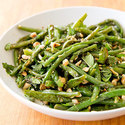 Roasted Green Beans with Almonds and Mint