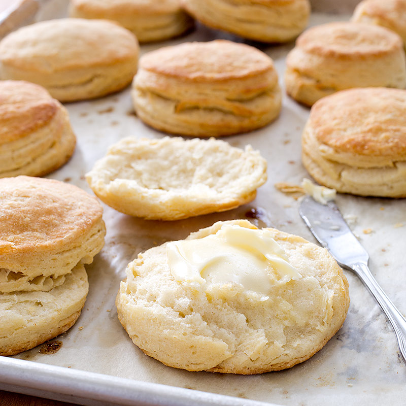 Flaky Buttermilk Biscuits Recipe — Dishmaps