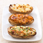 Twice-Baked Potatoes with Pepper Jack Cheese and Bacon