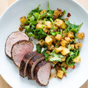 Jerk Pork Tenderloin with Arugula and Pinapple Salad