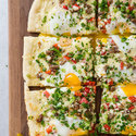 Sausage and Red Bell Pepper Breakfast Pizza