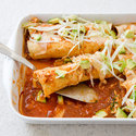 Reduced-Fat Chicken and Cheese Enchiladas