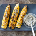 Husk-Grilled Corn with Brown Sugar-Cayenne Butter