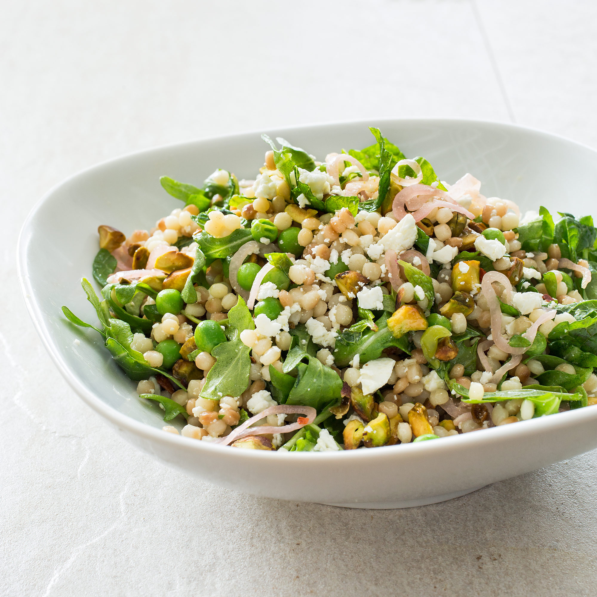 Israeli Couscous with Lemon, Mint, Peas, Feta, and Pickled ...