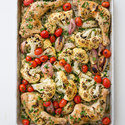 One-Pan Roast Chicken with Cauliflower and Tomatoes