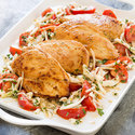 Pan-Seared Chicken Breasts with Marinated Tomatoes