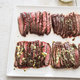 Pan-Seared Flank Steak with Mustard-Chive Butter