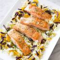 Pan-Roasted Salmon with Fennel and Orange Salad
