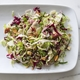 Brussels Sprout Salad with Warm Bacon Vinaigrette