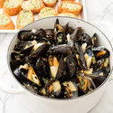 Steamed Mussels with Fennel, White Wine, and Tarragon