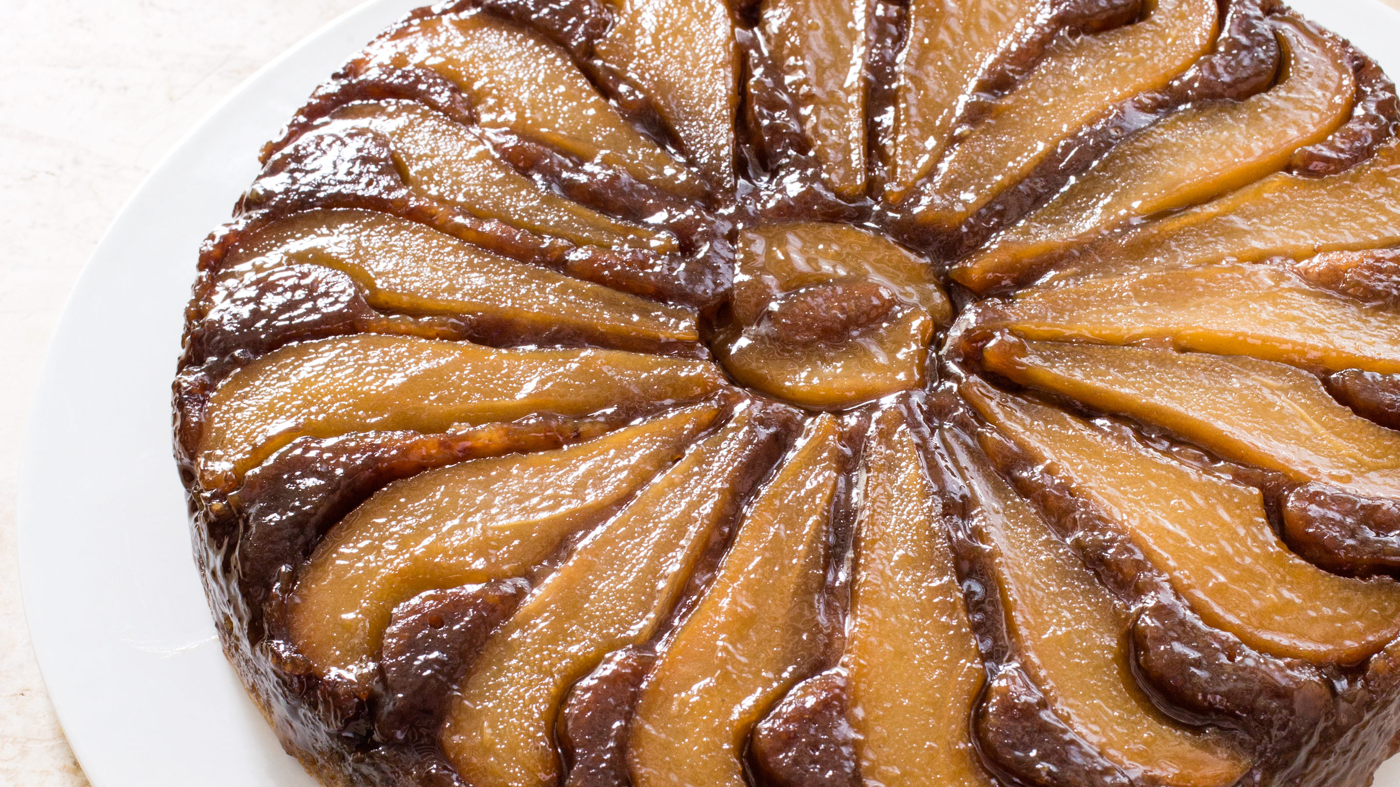 Pear Walnut Upside Down Cake America S Test Kitchen