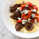 Rosemary Steak Tips with Gorgonzola Polenta
