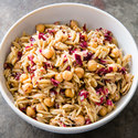 Orzo Salad with Pecorino, Radicchio, and Chickpeas