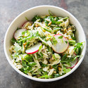 Orzo Salad with Radishes, Capers, and Anchovy