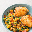 Pan-Seared Chicken Thighs with Potatoes and Chorizo