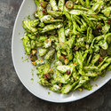 Asparagus Salad with Grapes, Goat Cheese, and Almonds