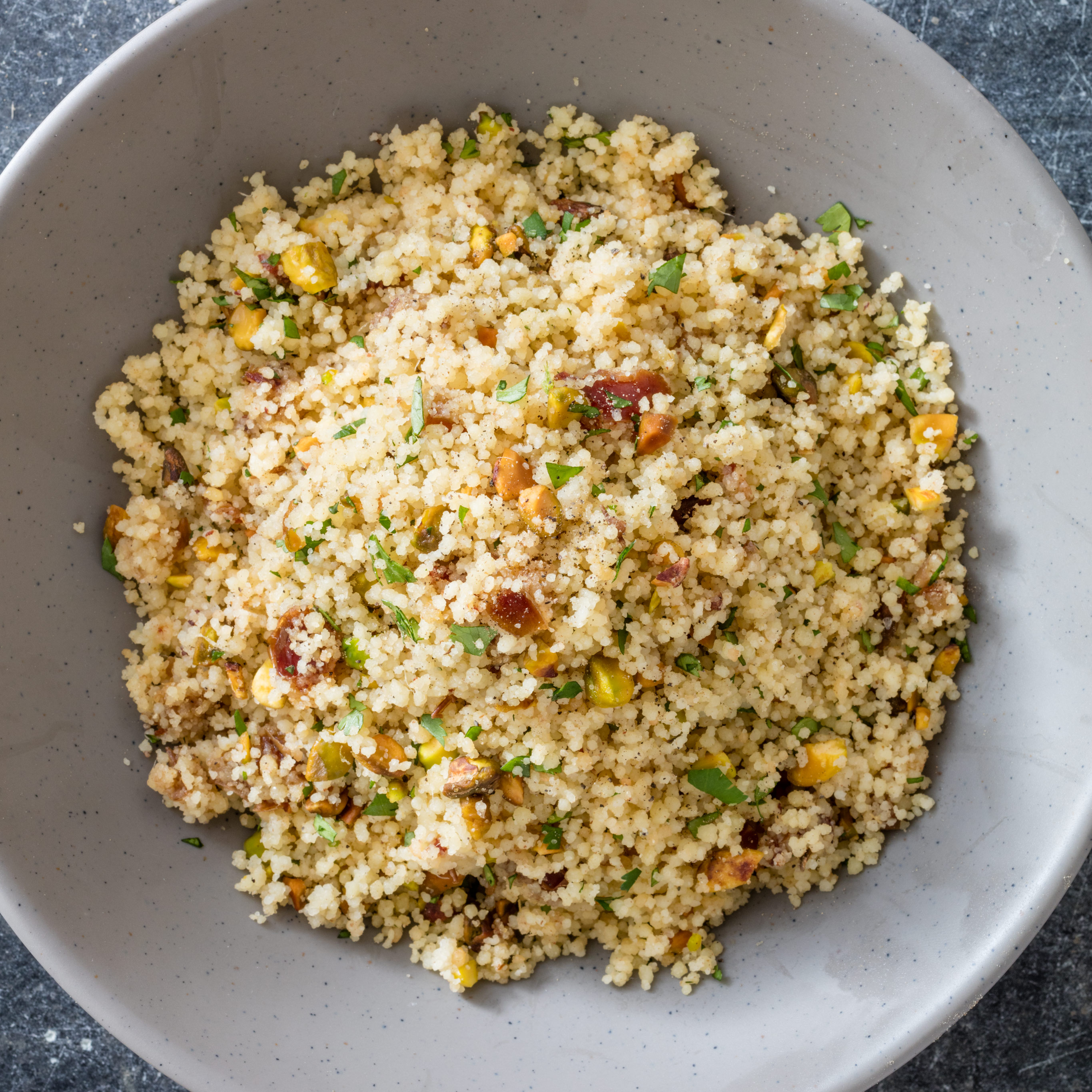 Couscous with Dates and Pistachios | America's Test Kitchen