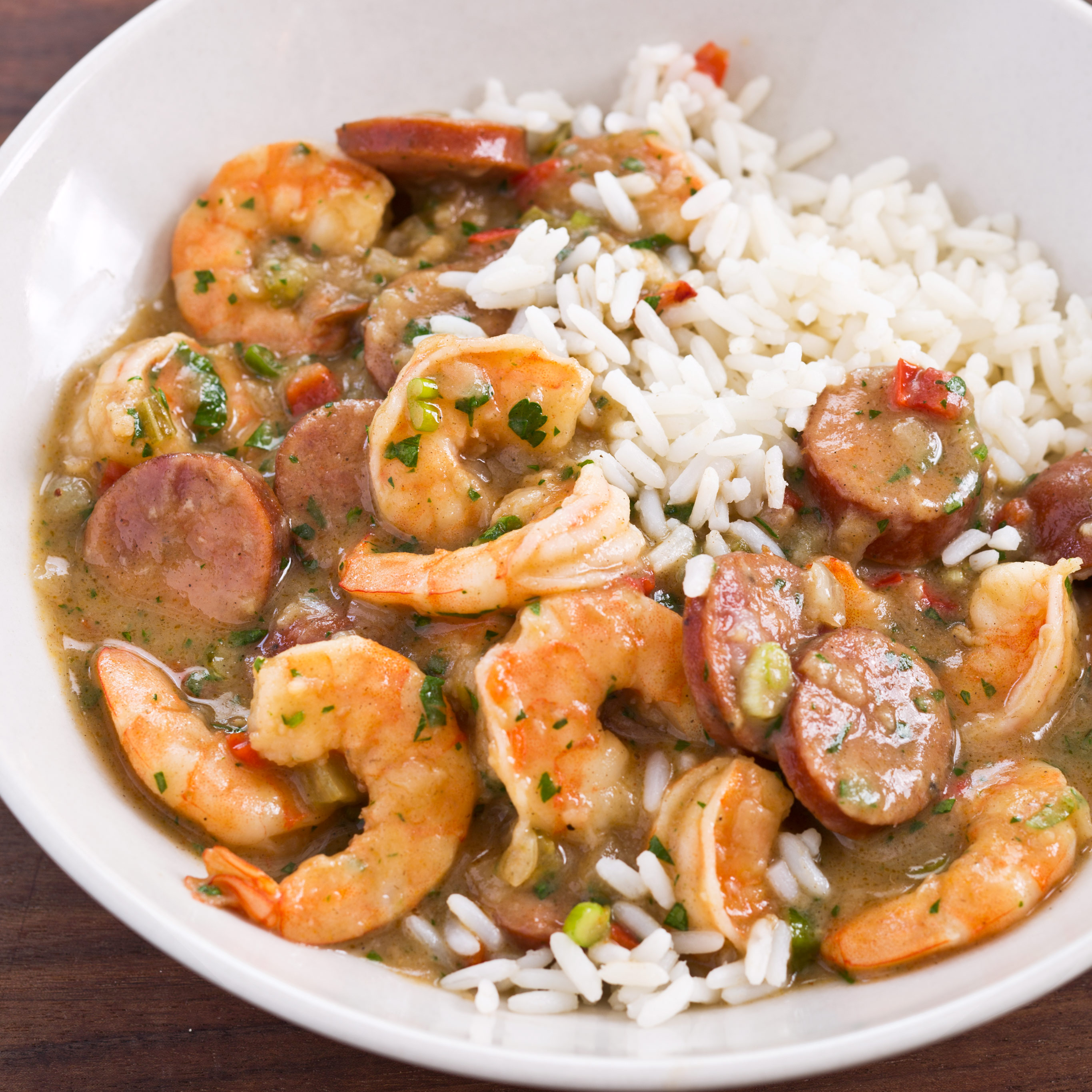 Creole Style Shrimp And Sausage Gumbo America S Test Kitchen