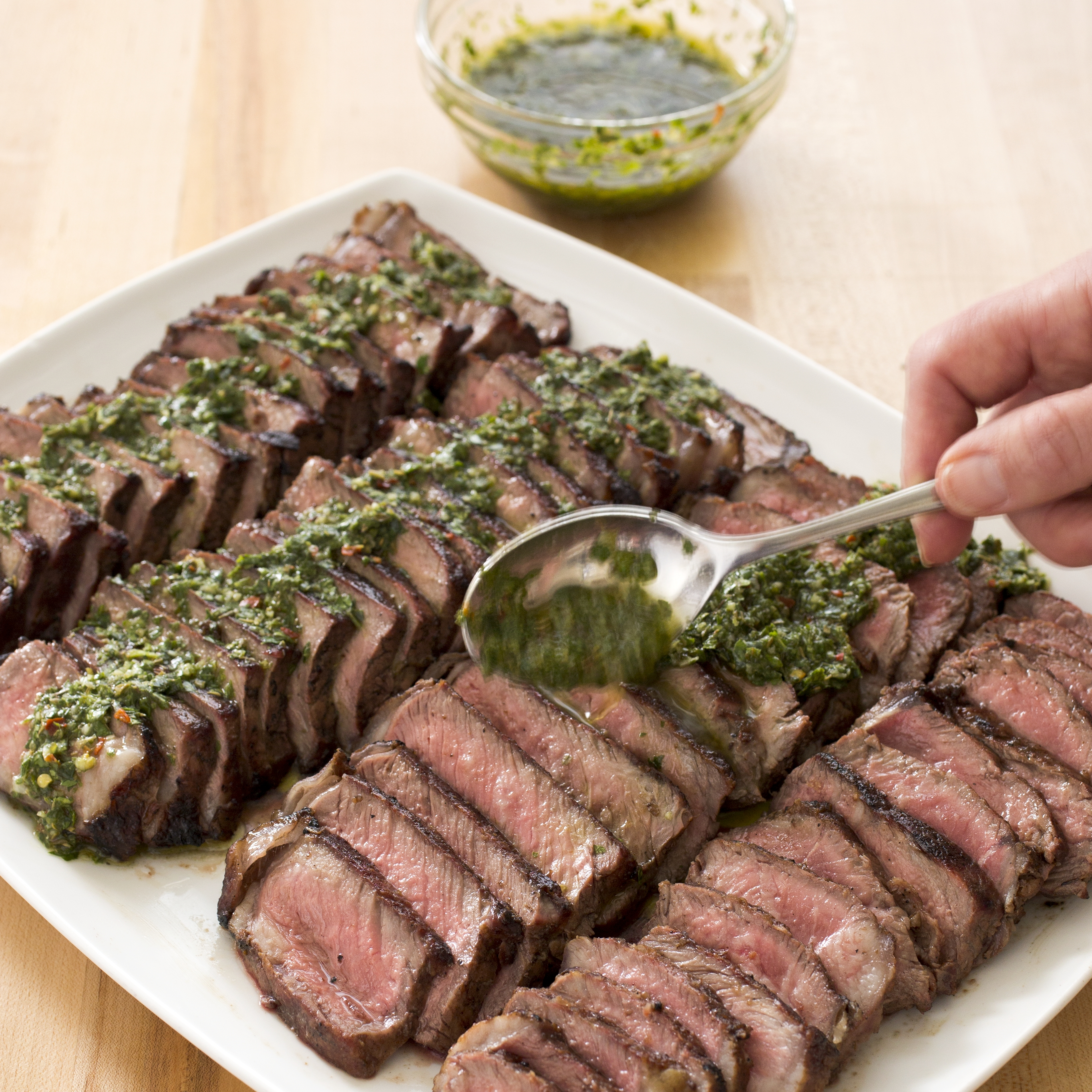 charcoal grilled argentine steaks with chimichurri sauce cook u0027s