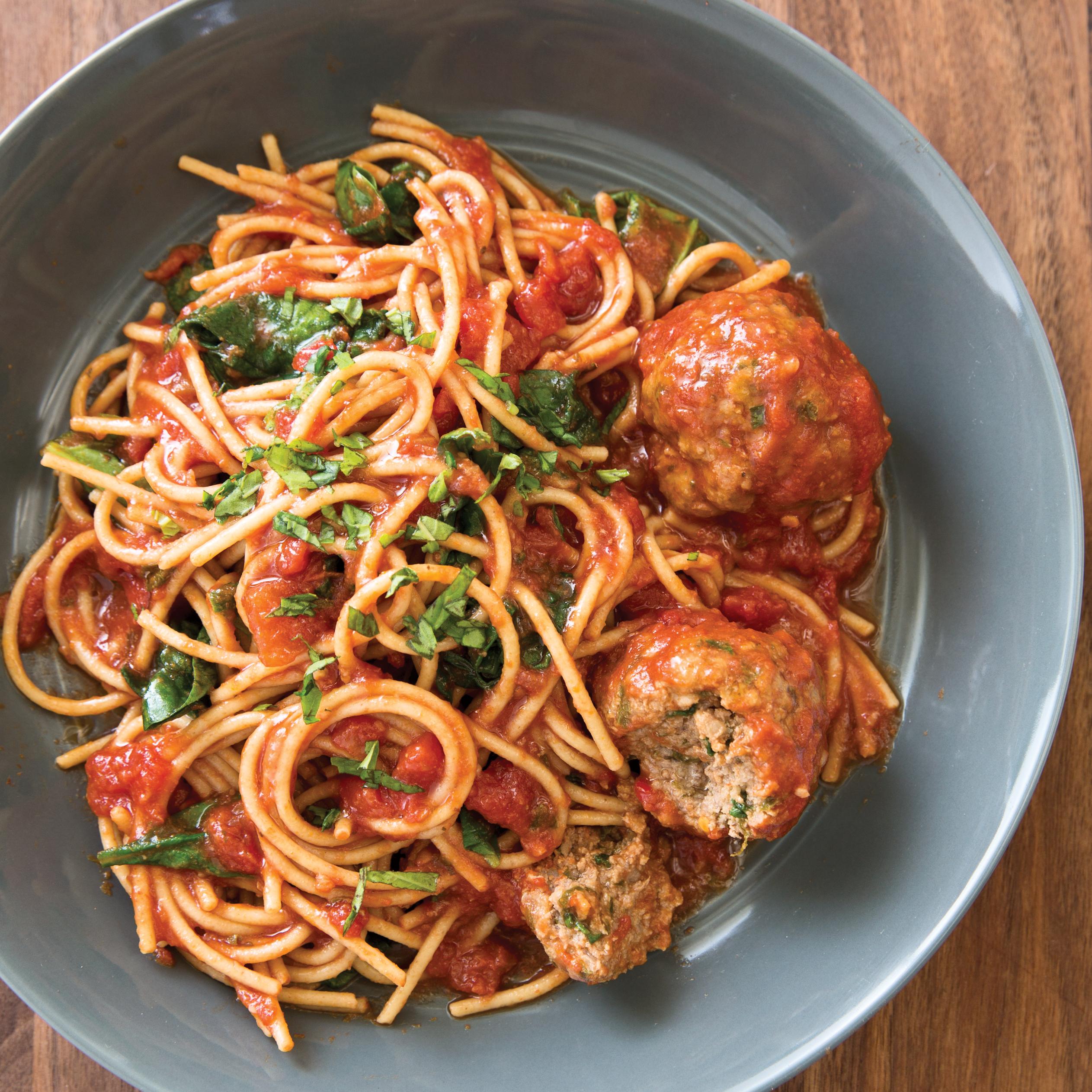Slow Cooker Spaghetti With Meatballs Florentine America