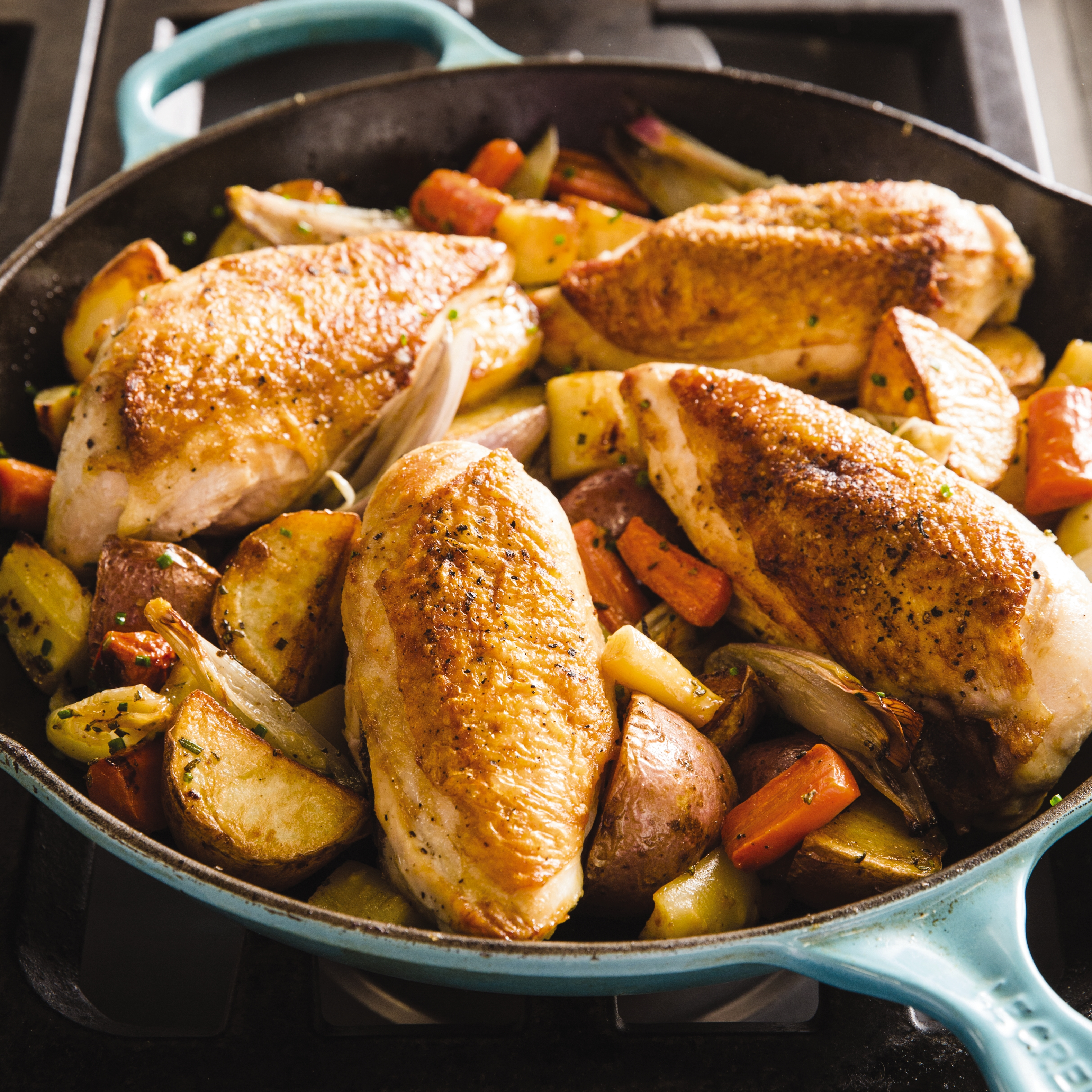 America S Test Kitchen Iron Skillet Roasted Chicken